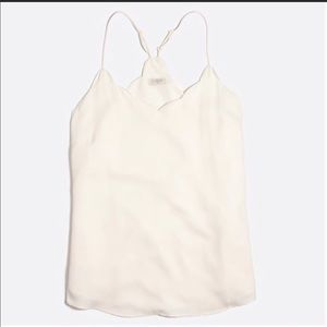 J. Crew Women's Sleeveless Scalloped Cami Top SZ 0